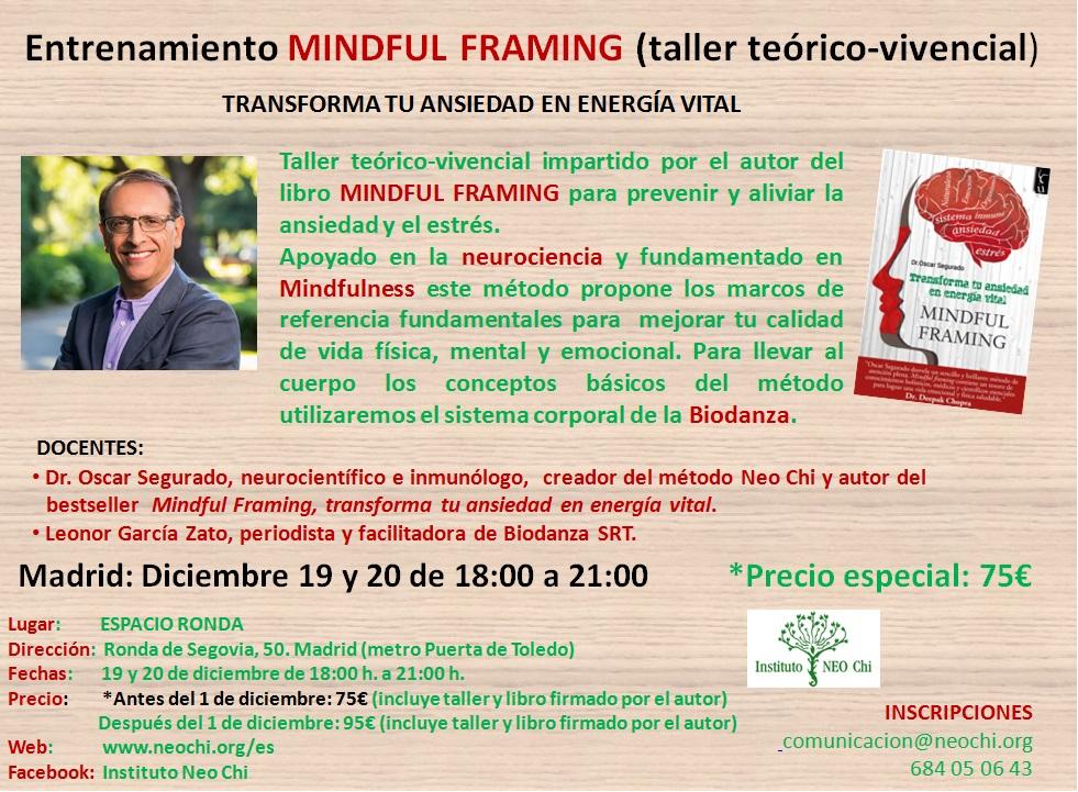 Taller deEntrenamiento Mindful Framing (taller teórico-vivencial)