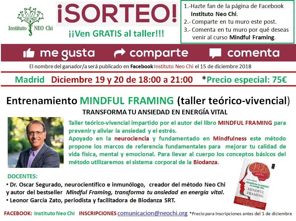 """""""Entrenamiento Minful Framing"""" Taller teórico vivencial"""
