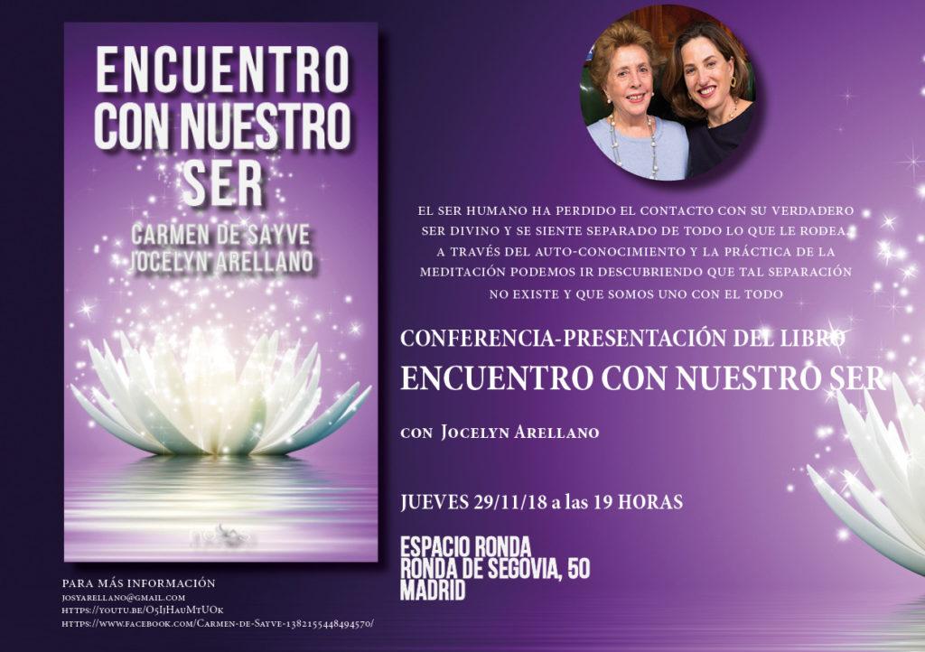 """Conferencia-presentación del libro """"Encuentro con nuestro ser"""" con Jocelyn Arellano"""
