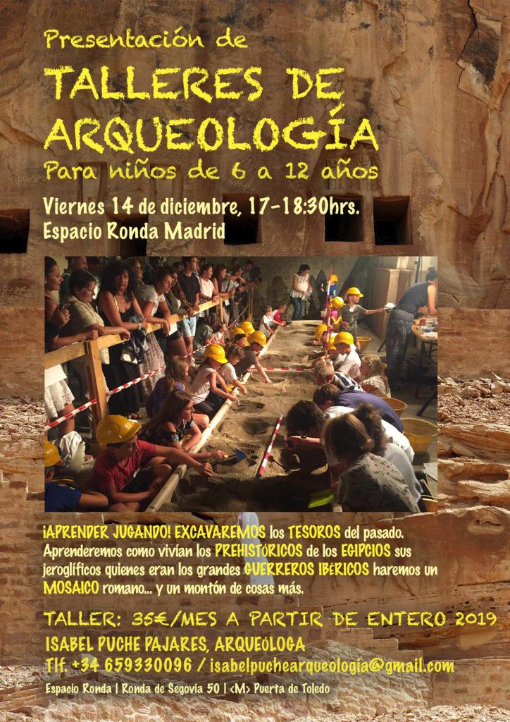 """Presentación de """"Talleres de arqueología"""" para niños de 6 a 12 años"""