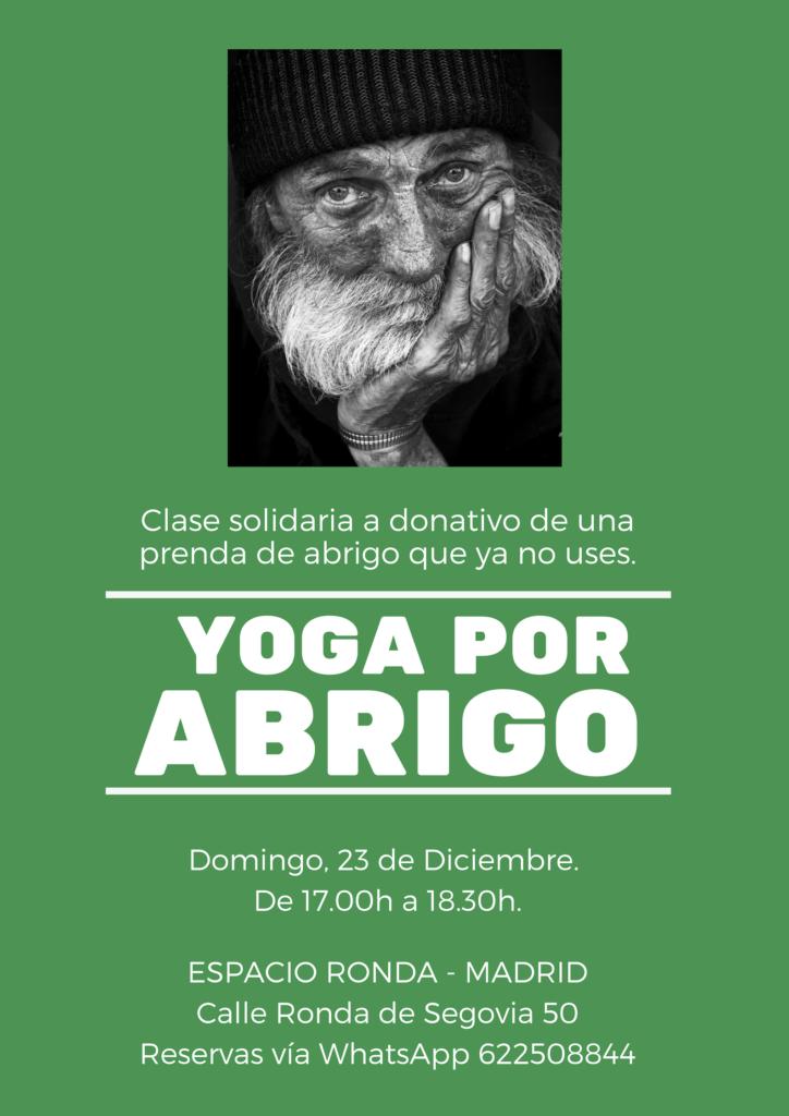 """""""Yoga por Abrigo"""" Clase solidaria de Yoga"""