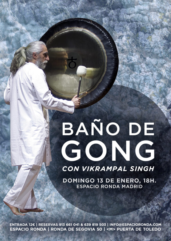 """Baño de gong"" Un concierto de gongs"
