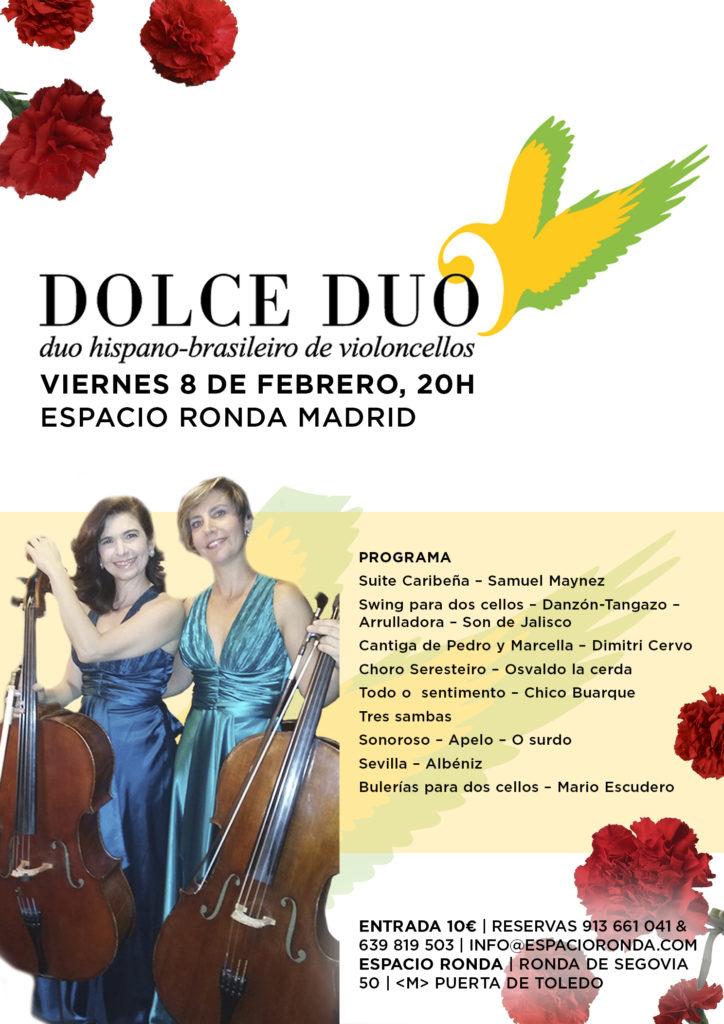 """""""Dolce Dúo"""" Dúo hispano-brasileiro de violoncellos"""
