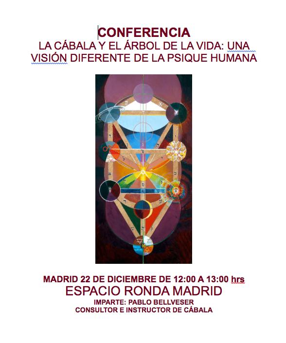 """Conferencia """"La Cábala y el Árbol de la Vida - una visión diferente de la psique humana"""""""