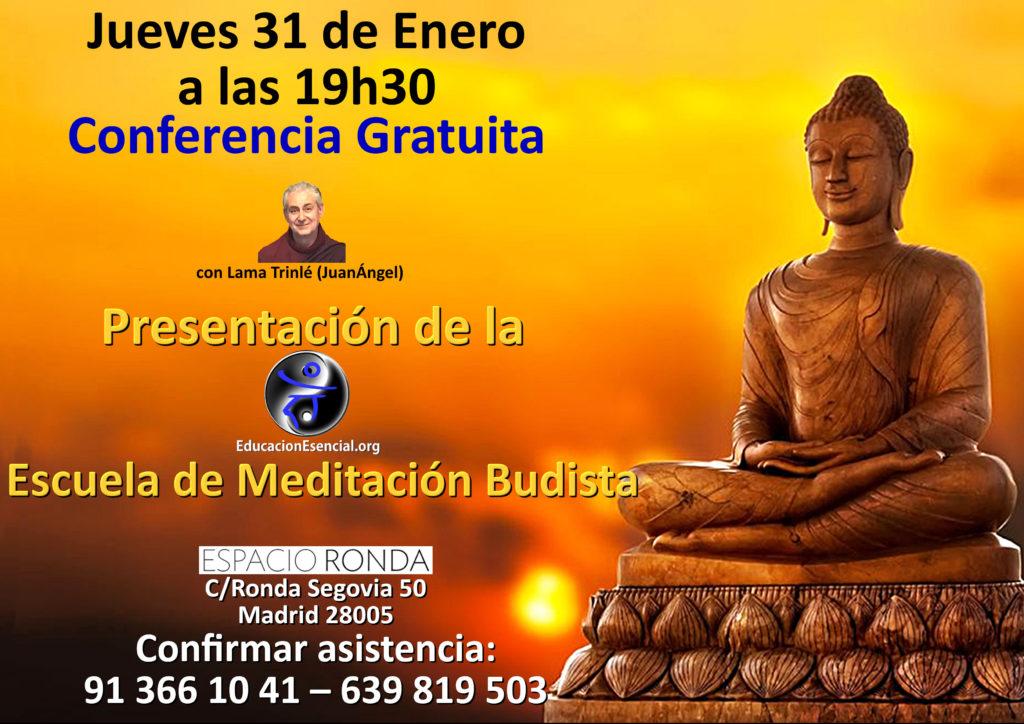 """Conferencia gratuita """"Presentación de la Escuela de Meditación Budista"""""""