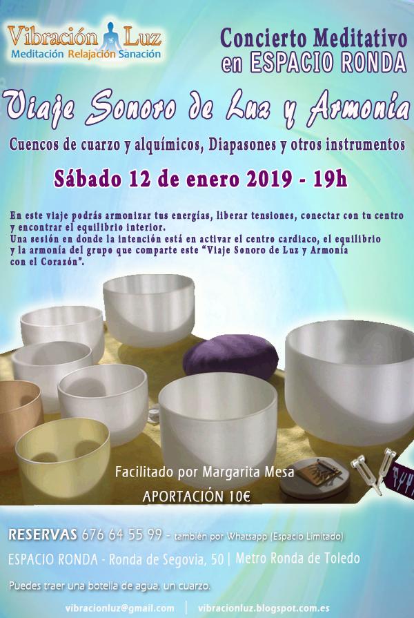 """""""Viaje Sonoro de Luz y Armonía"""" Concierto Meditativo"""