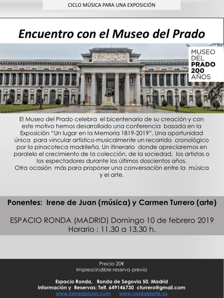 """""""Encuentro con el Museo del Prado"""" Sesión de música y arte"""
