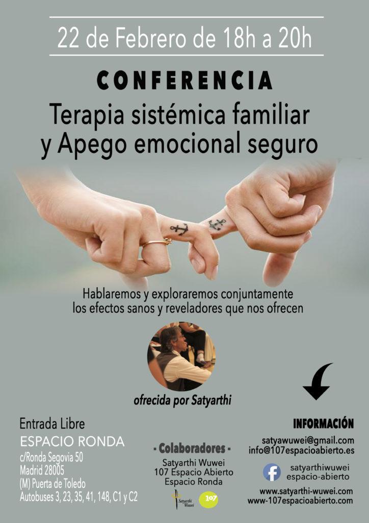 """Conferencia """"Terapia sistémica familiar y Apego emocional seguro"""""""