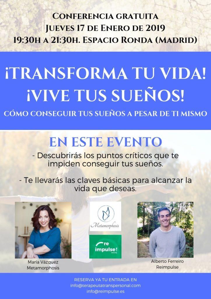 """Conferencia gratuita """"¡Transforma tu vida! ¡Vive tus sueños!"""""""