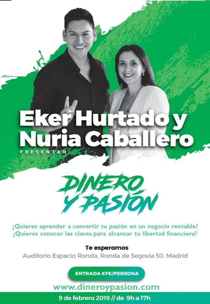 """Evento """"Dinero y pasión"""" con Eker Hurtado y Nuria Caballero"""