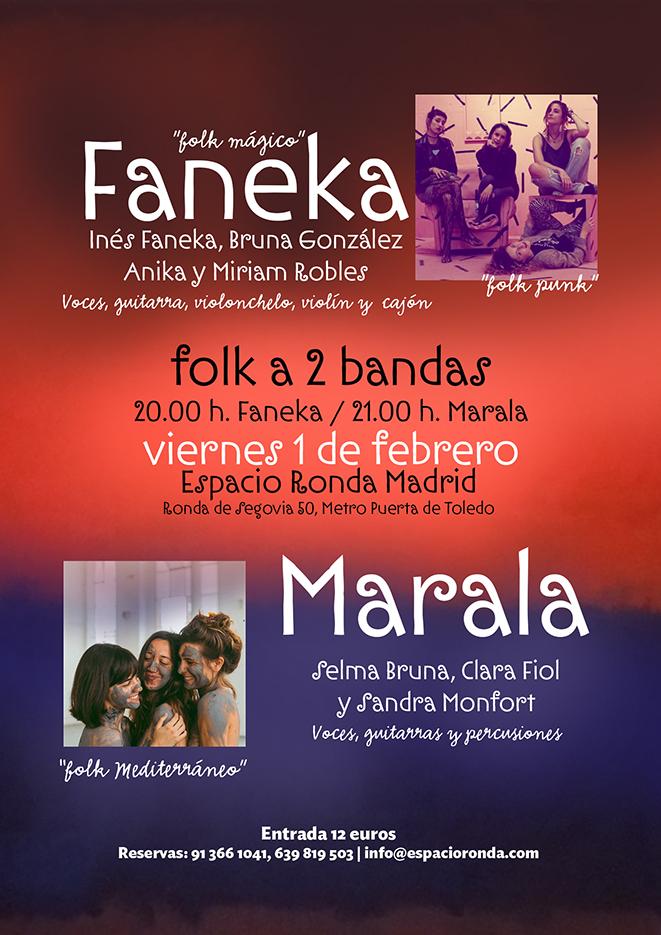 """Folk a dos bandas """"Faneka + Marala"""""""