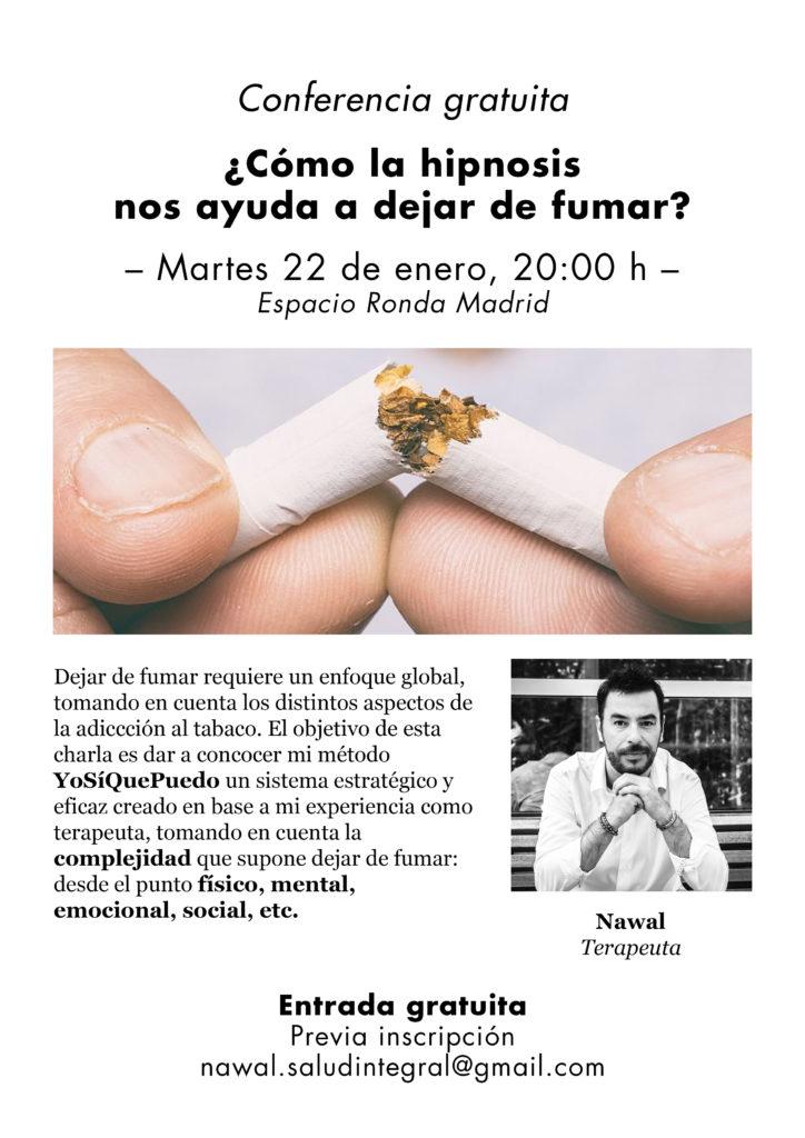 """Conferencia gratuita """"¿Cómo la hipnosis nos ayuda a dejar de fumar?"""""""