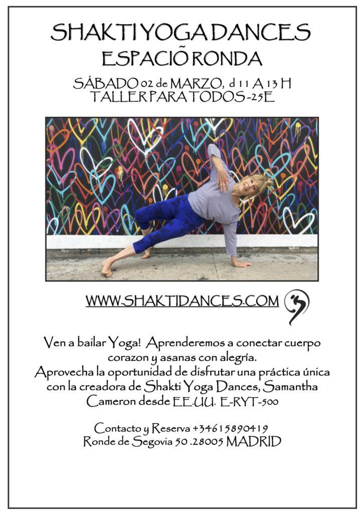 """""""Shakti Yoga Dances"""" Taller para todos"""