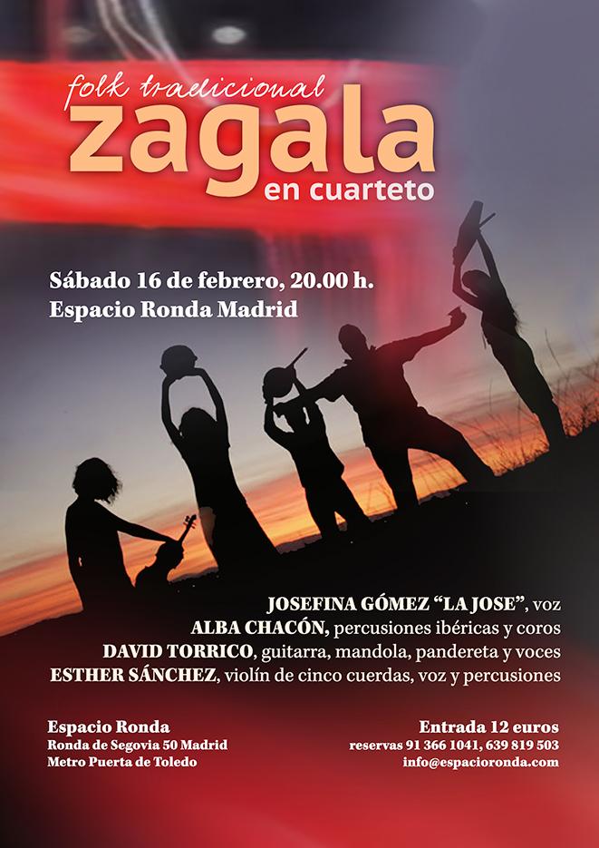 Concierto de Zagala en cuarteto