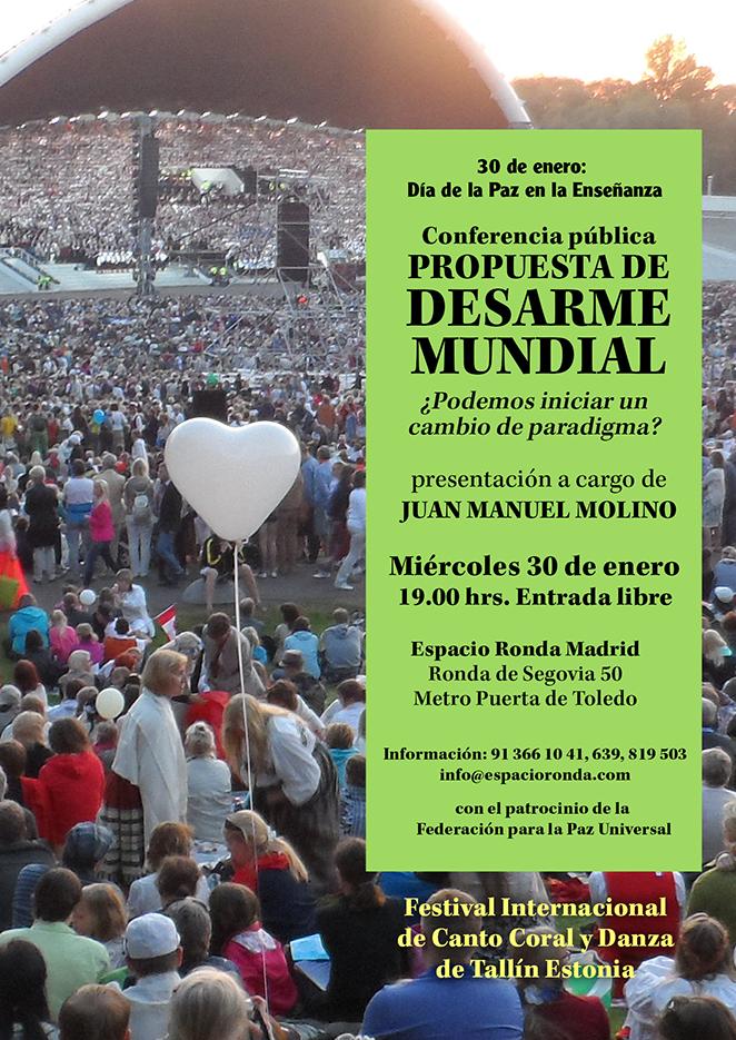 """Día de la Paz en la Enseñanza - Conferencia Pública """"Propuesta de DESARME MUNDIAL"""""""