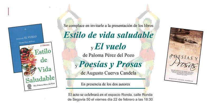 """Presentación de los libros """"Estilo de vida saludable"""" y """"Poesías y prosas"""""""