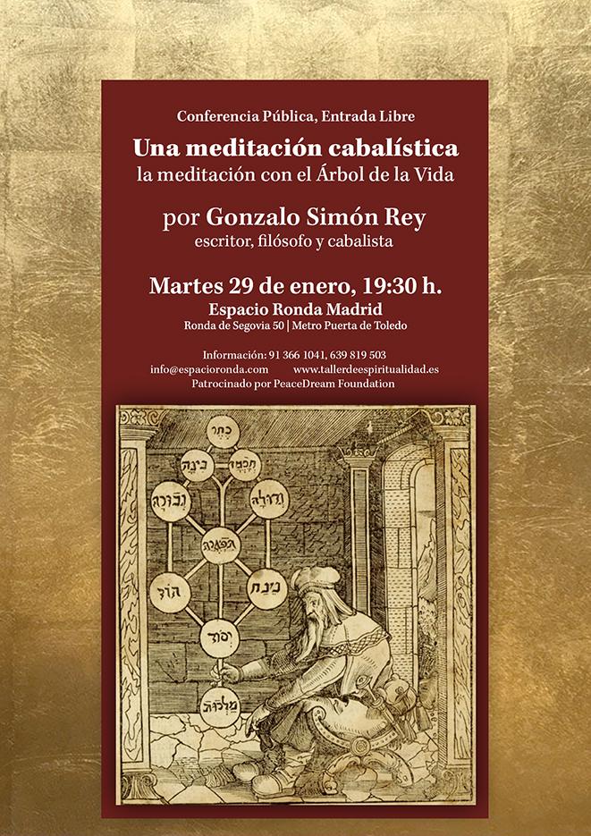 """Conferencia pública """"Una meditación cabalística"""" por Gonzalo Simón Rey"""