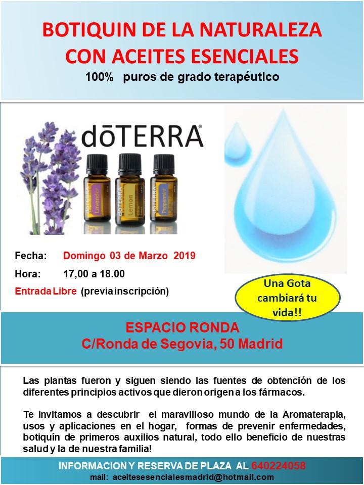 Botiquín de la naturaleza con aceites esenciales