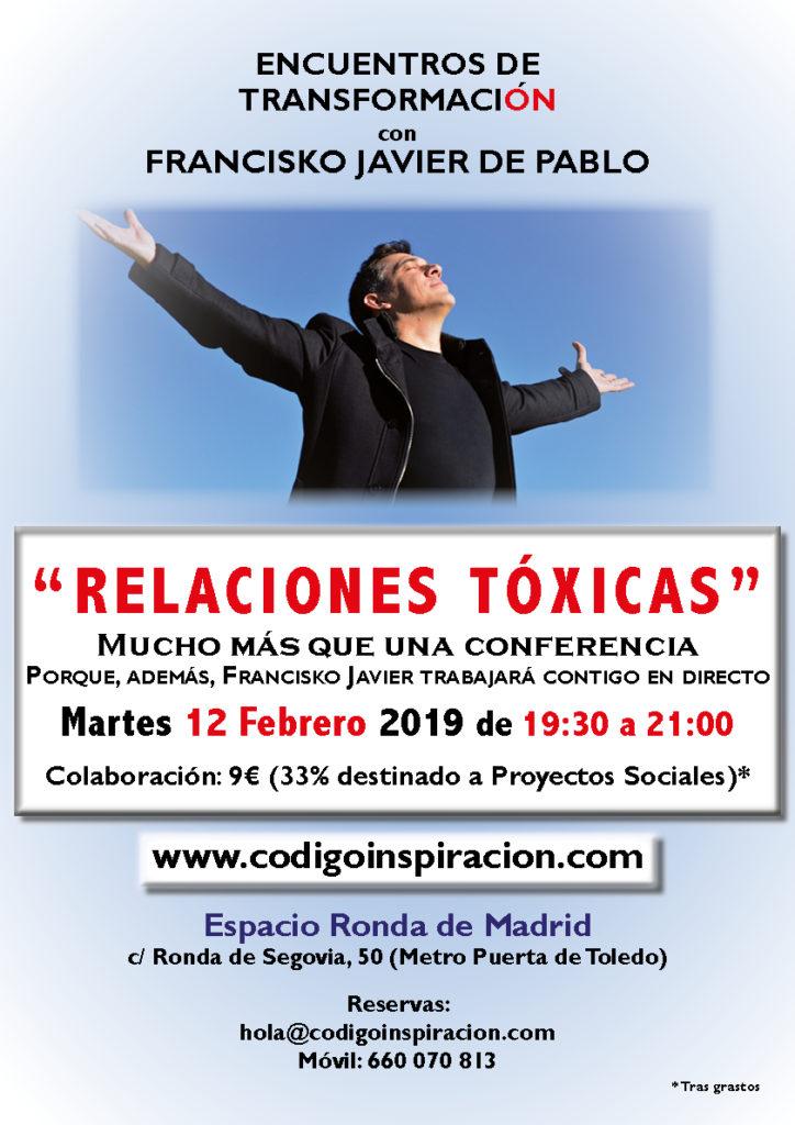 """""""Relaciones Tóxicas"""" dentro del ciclo de Encuentros de Transformación, con Francisko Javier de Pablo"""