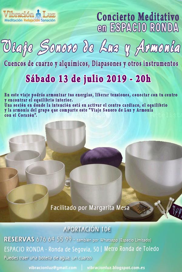 """""""Viaje Sonoro de Luz y Armonía"""" Concierto Meditativo con Margarita Mesa"""