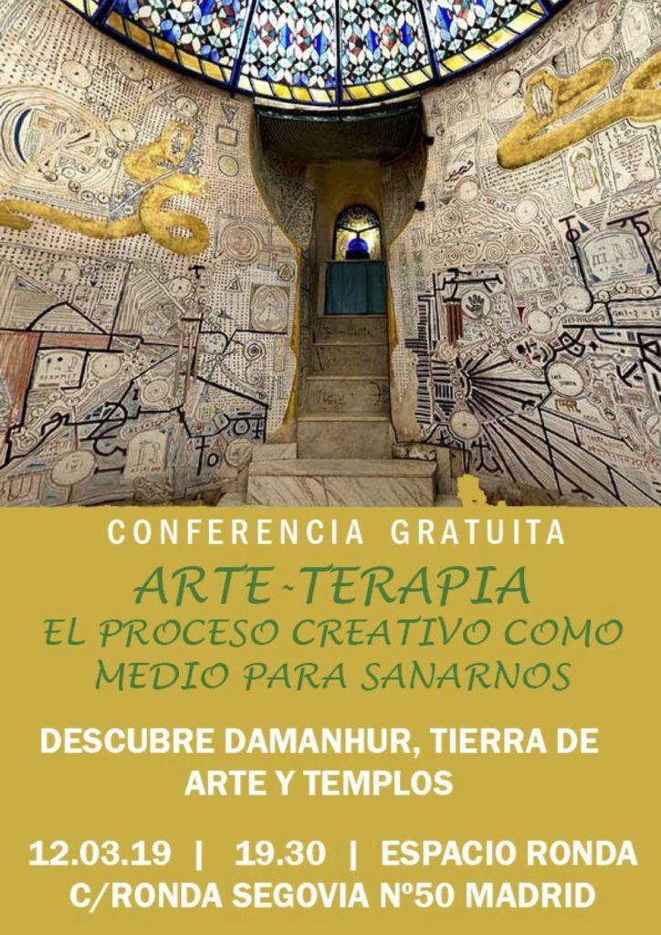 """Conferencia gratuita """"Arte - Terapia"""" El proceso creativo como medio para sanarnos"""
