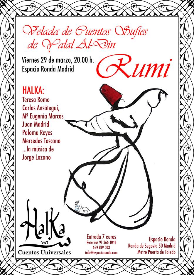 """""""Velada de cuentos sufíes"""" de Yalal Al-Din Rumi"""
