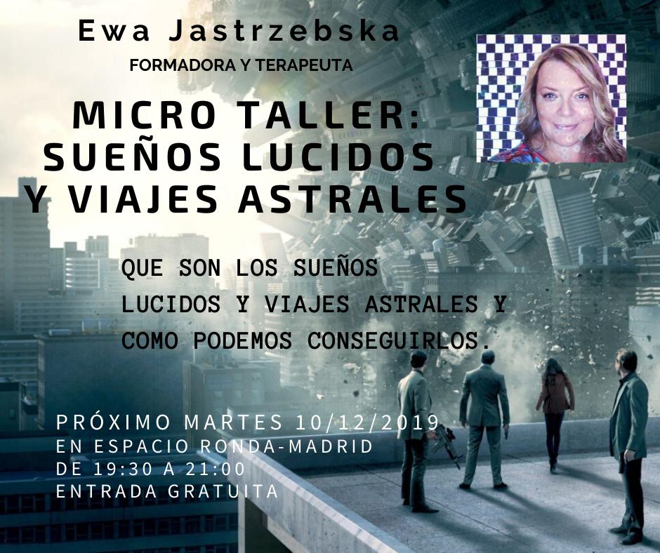 """Micro Taller """"Sueños Lucidos y Viajes Astrales"""" con Ewa Barbara"""