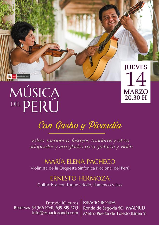 Con Garbo y Picardía, un concierto de música de Perú
