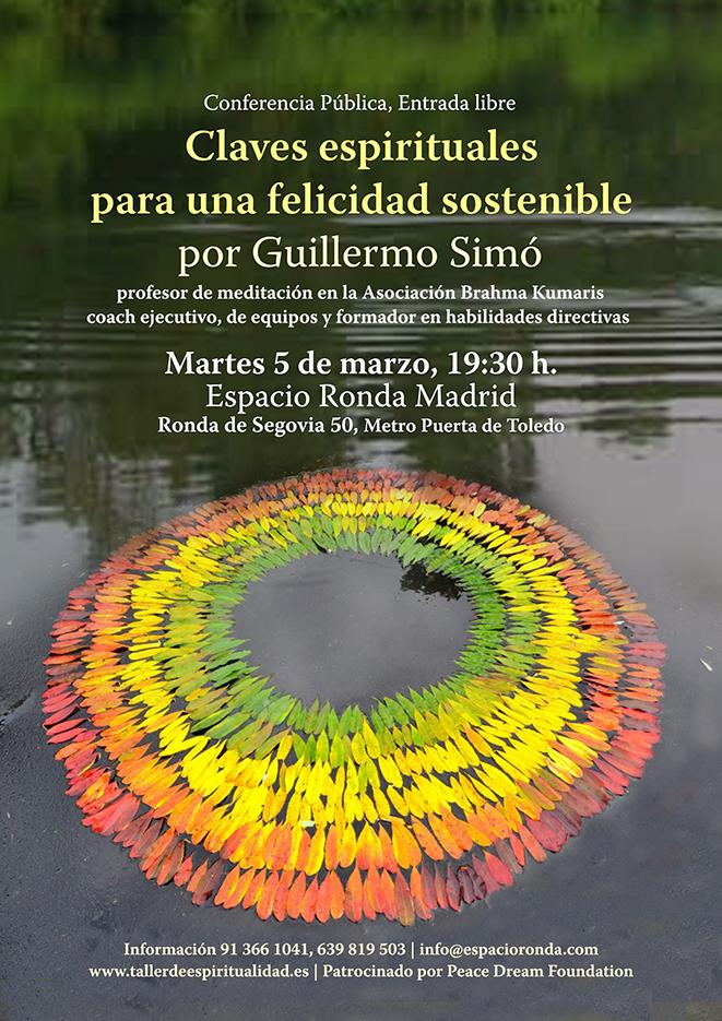 """Conferencia Pública """"Claves espirituales para una felicidad sostenible"""""""