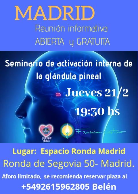 Seminario de activación interna de la glándula pineal