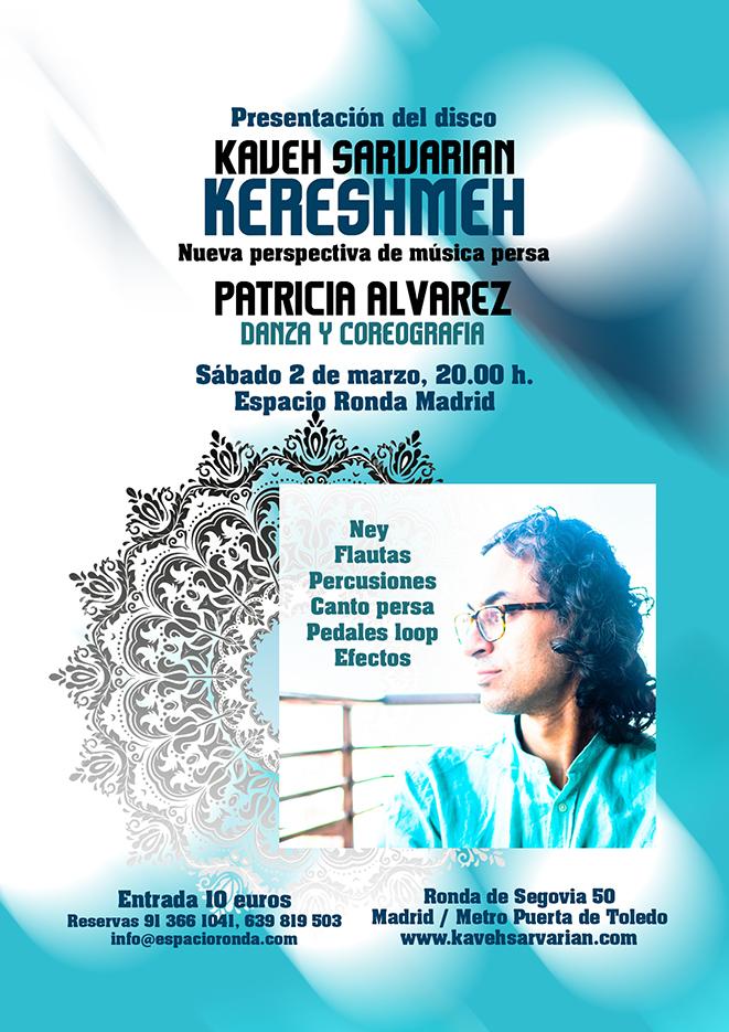 """Presentación de disco """"Kereshmeh"""" de Kaveh Sarvarian"""