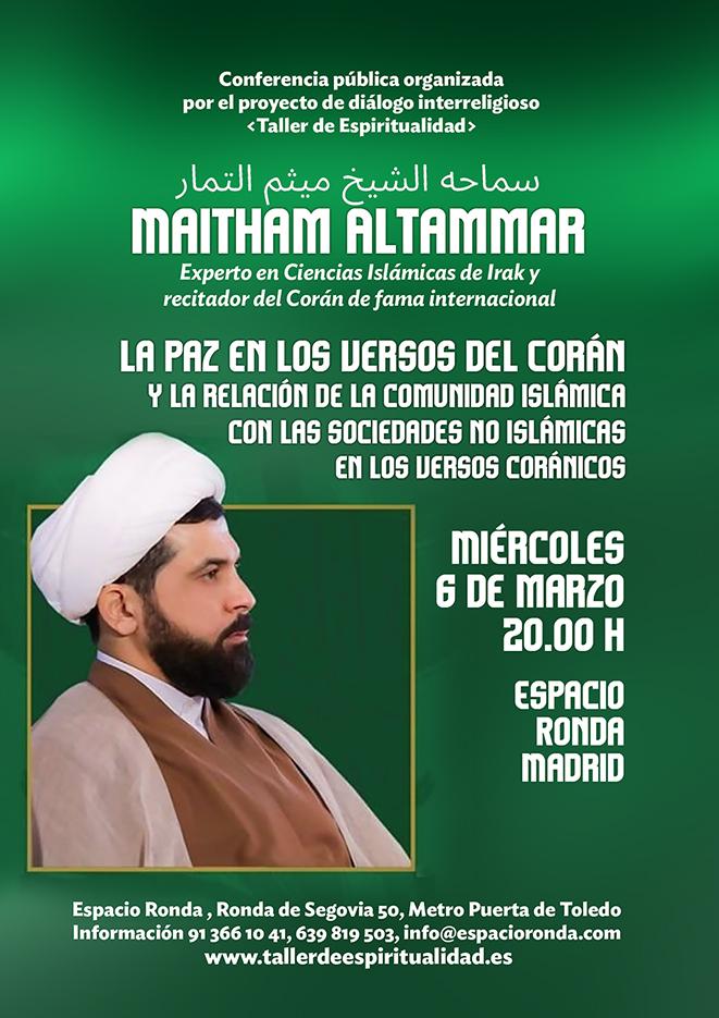 """Conferencia Pública """"La paz en los versos del Corán y la relación de la comunidad islámica con las sociedades no islámicas en los versos coránicos"""""""