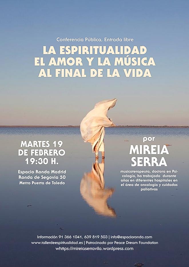 """Conferencia Pública """"La espiritualidad, el amor y la música al final de la vida"""""""