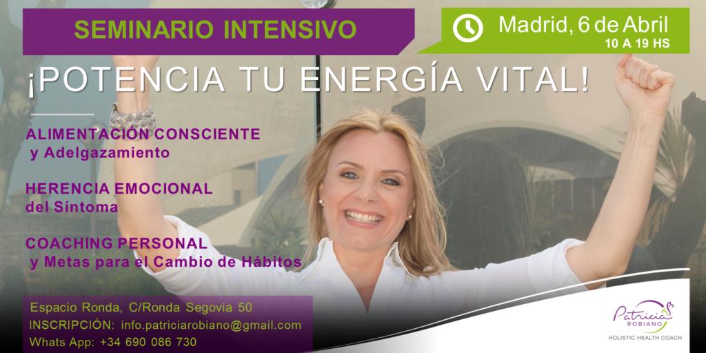 """Seminario """"Potencia tu energía vital"""""""