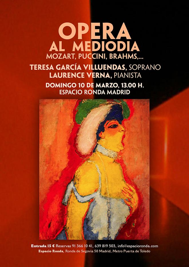 """""""Ópera al medio día"""" Obras de Mozart, Puccini, Brahms,..."""