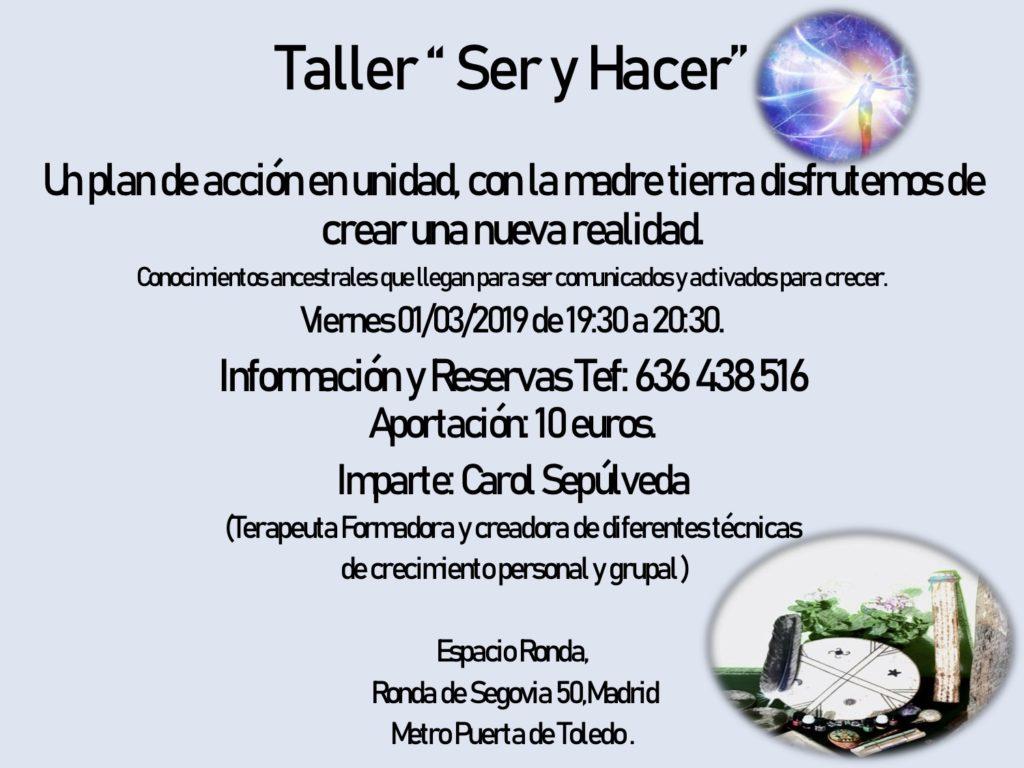 """Taller """"Ser y Hacer"""""""