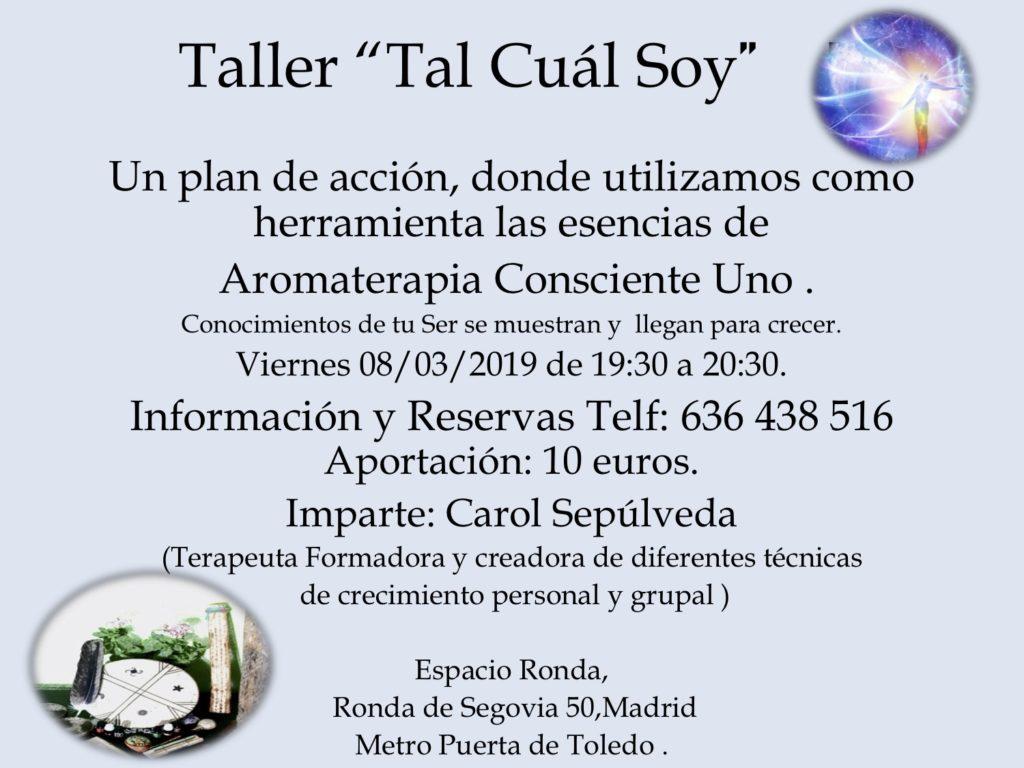"""Taller """"Tal Cuál Soy"""""""