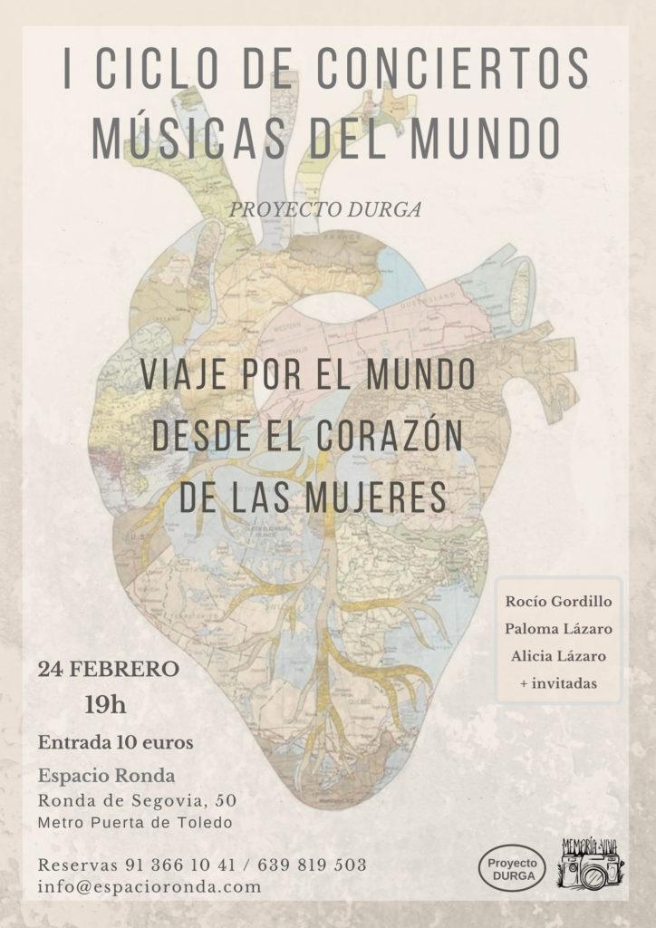 """Musicas del mundo """"Viaje por el mundo desde el corazón de las mujeres"""""""