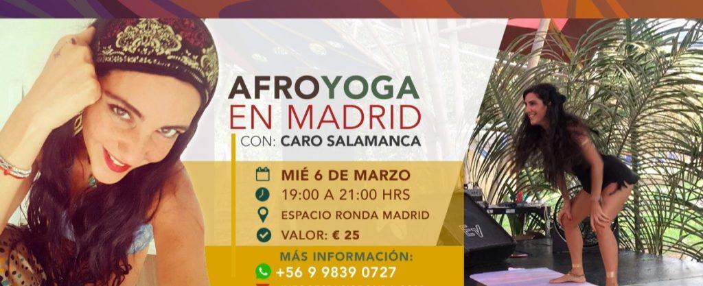 AFROYOGA en Madrid con Caro Salamanca