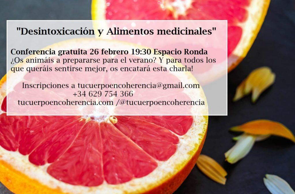 """Conferencia gratuita """"Desintoxicación y Alimentos medicinales"""""""
