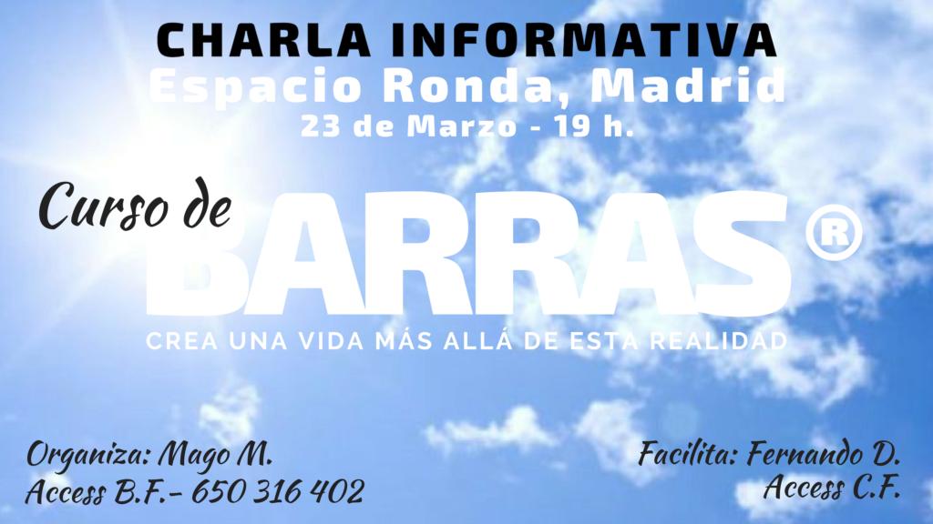 """Charla Informativa """"Curso de Barras®"""" Crea una vida más allá de esta realidad"""