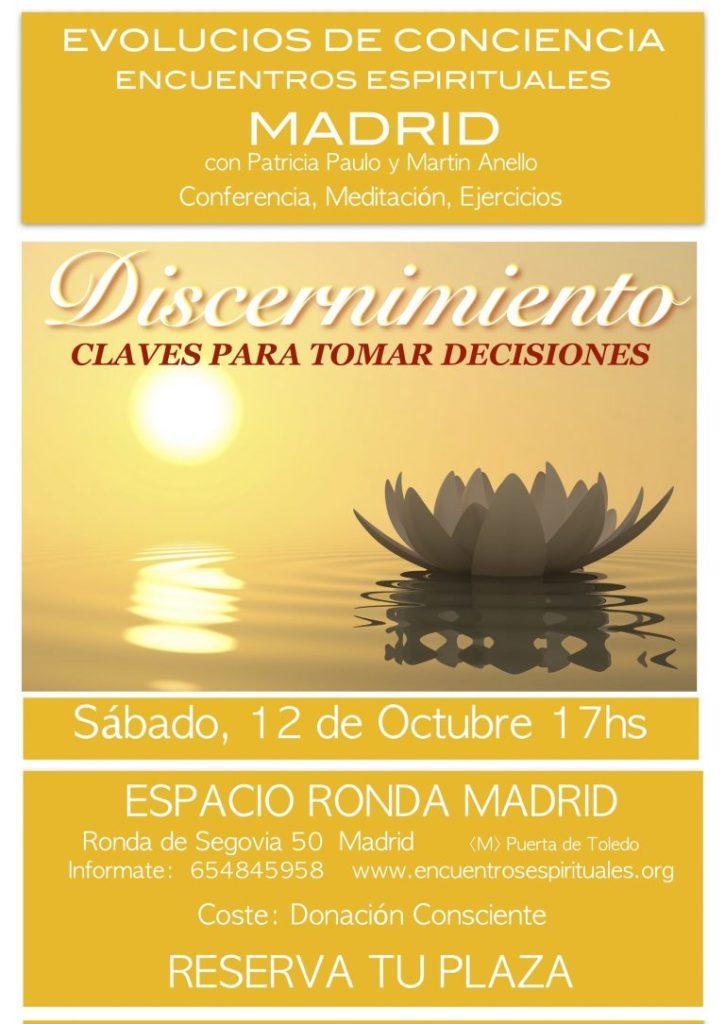 """Encuentros Espirituales con Patricia Paulo y Martin Anello - """"Discernimiento, claves para tomar decisiones"""""""