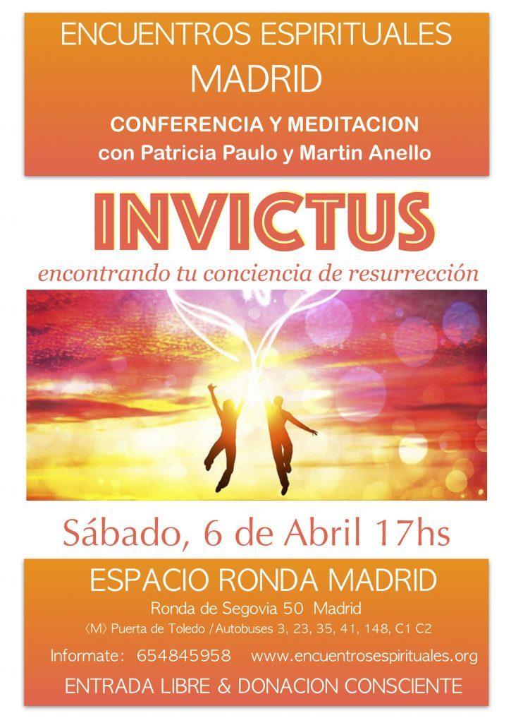 """Conferencia y meditación """"Invictus - encontrando tu conciencia de resurrección"""""""