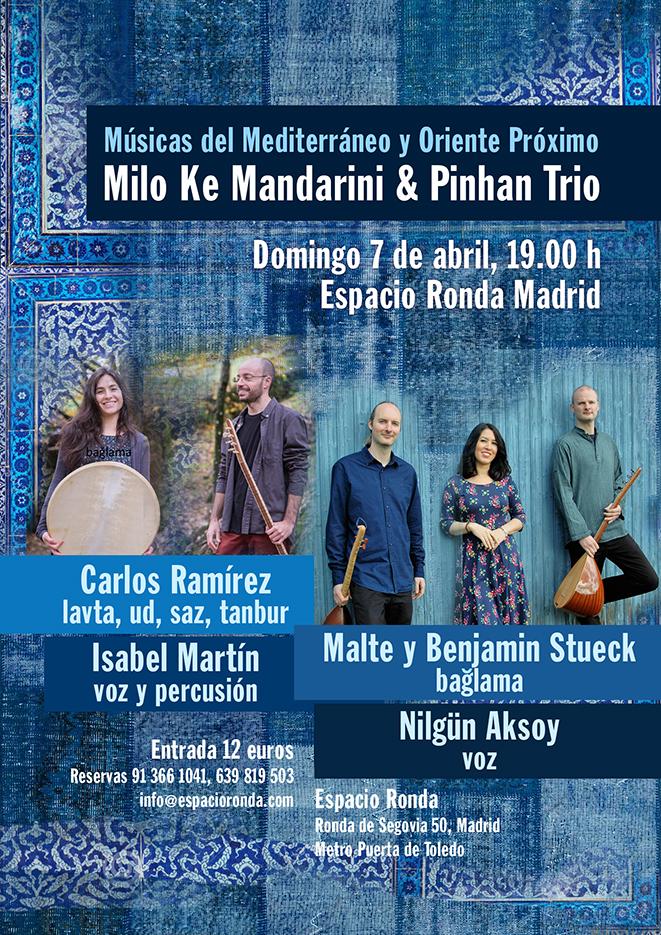 MILO KE MANDARINI & PINHAN TRÍO - Músicas del Mediterráneo y Oriente Medio