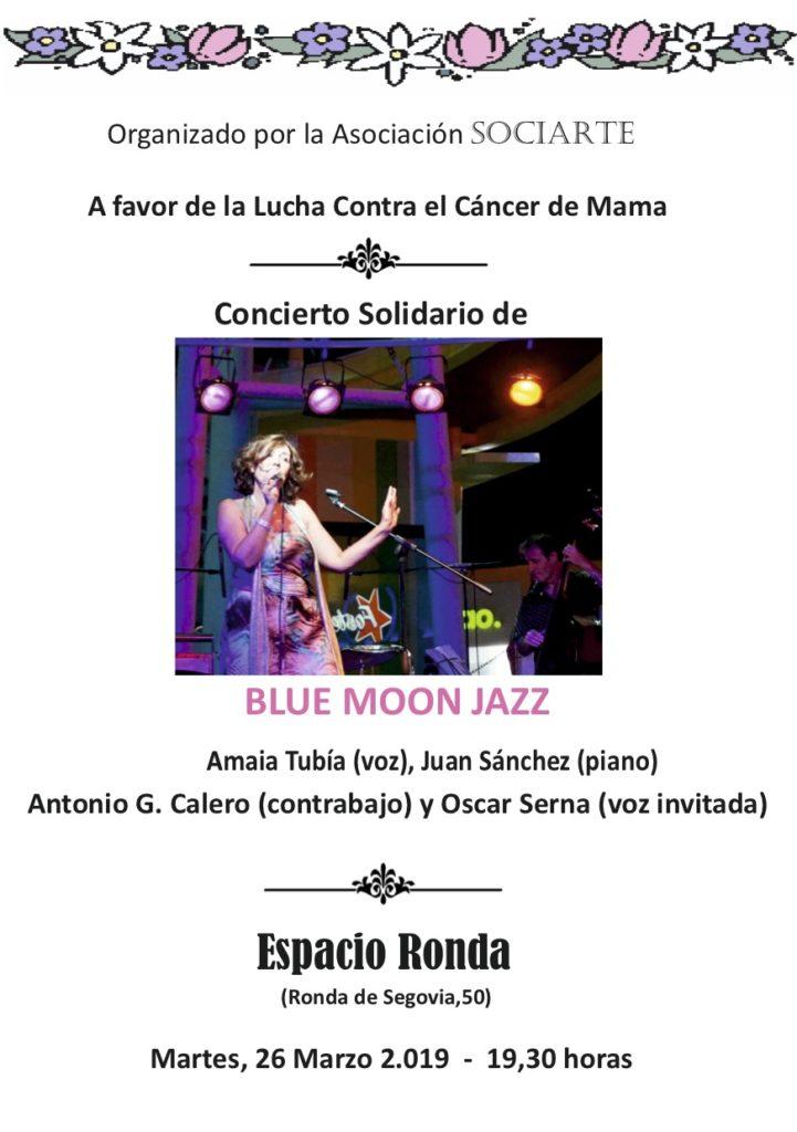 """Concierto Solidario """"Blue Moon Jazz"""" A favor de la Lucha Contra el Cáncer de Mama"""
