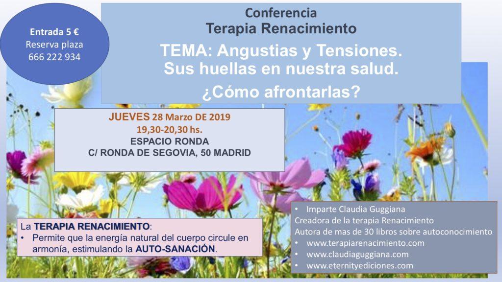 """Conferencia Terapia Renacimiento """"Angustias y Tensiones - Sus huellas en nuestra salud"""""""