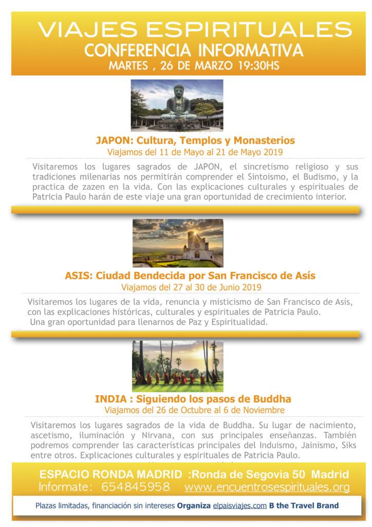 """Conferencia informativa """"Viajes Espirituales"""""""