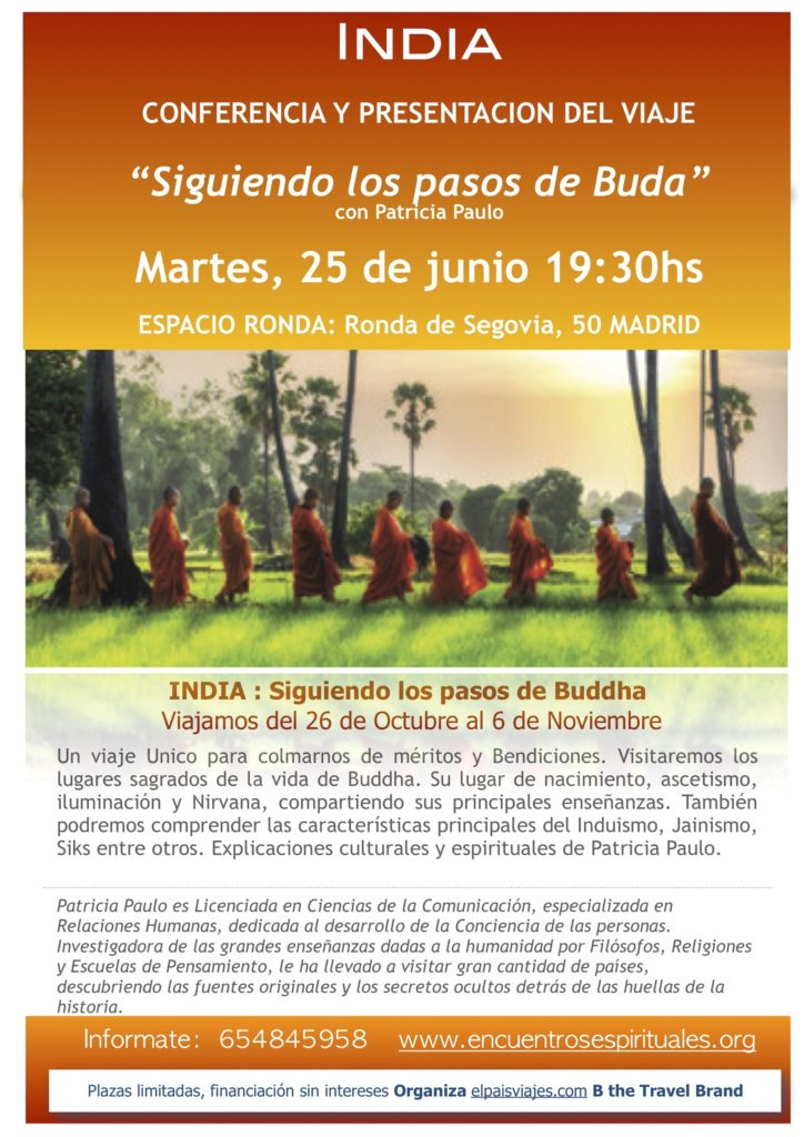 """India - Conferencia y presentación del Viaje con Patricia Paulo """"Siguiendo los pasos de Buda"""""""