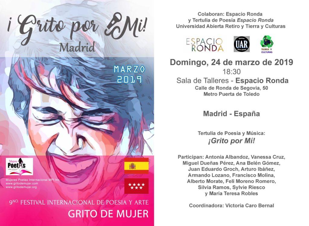 """""""¡Grito por Mi!"""" Festival Internacional de Poesía y Arte"""