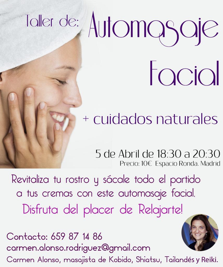 Taller de Automasaje Facial + cuidados naturales